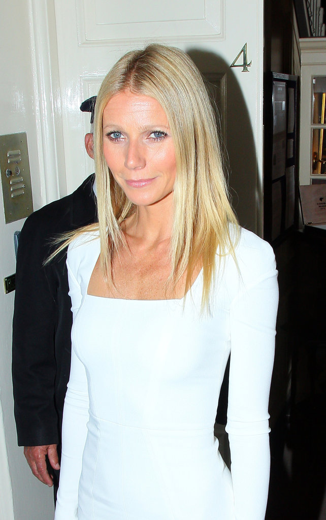 Gwyneth Paltrow wore a white Tom Ford dress to cohost a dinner for President Obama in London.