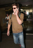 Miley Cyrus Sweetly Chauffers Fiancé Liam Hemsworth to LAX
