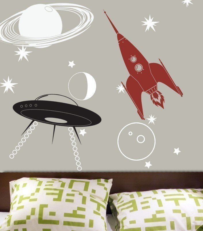 UFO, Rocket, and Saturn Decal Kit ($60)
