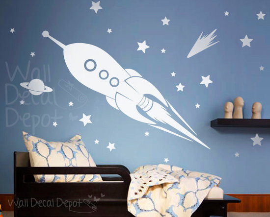 Rocket Ship Wall Decal ($79)