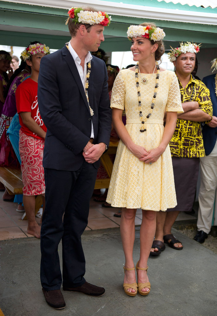 Wills and Kate were both given necklaces.