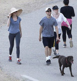 Anne Hathaway and Adam Shulman Work Up a Sweat in the Hollywood Hills