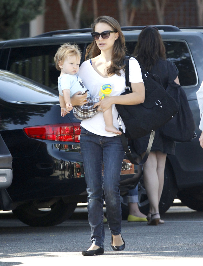 Natalie Portman and Aleph Millepied were spotted in LA.