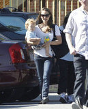 Natalie Portman gave her son Aleph Millepied a lift in LA.