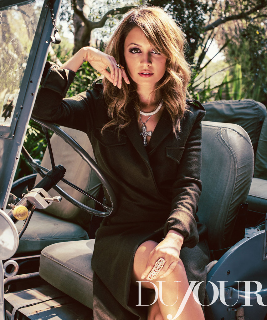 Nicole Richie posed for DuJour.