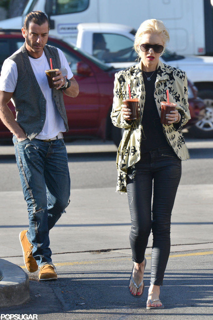 Gwen Stefani led the way as she stepped out with Gavin Rossdale.