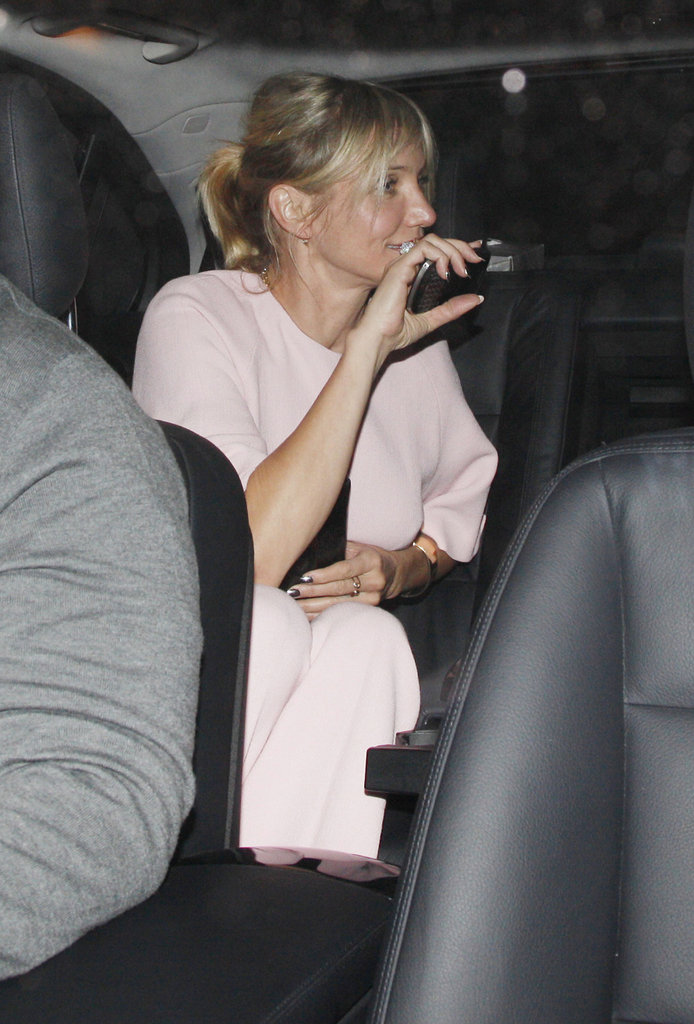 Cameron Diaz got into the car in London.