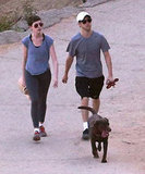 Anne Hathaway and Adam Shulman walked Esmerelda.