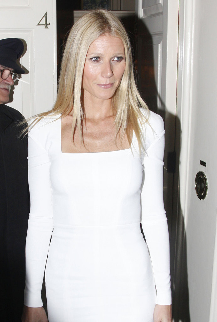 Gwyneth Paltrow wore a white Tom Ford dress.