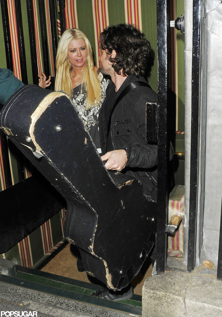 Tara Reid and Thomas Ian Nicholas left Annabel's in London's Mayfair.
