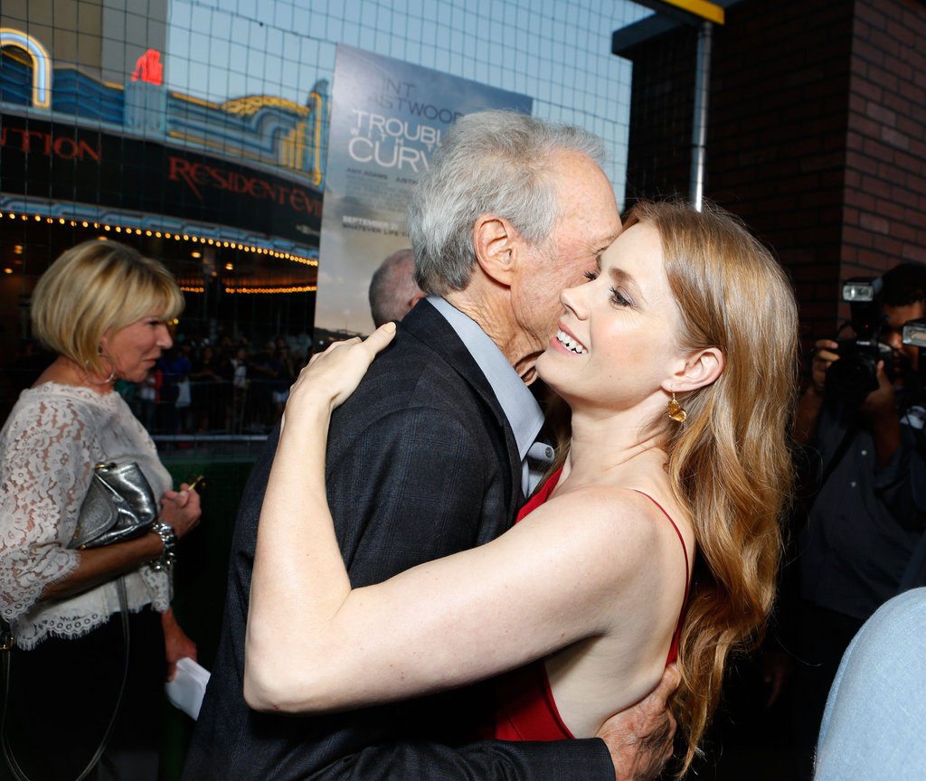 Amy Adams got a hug from Clint Eastwood.