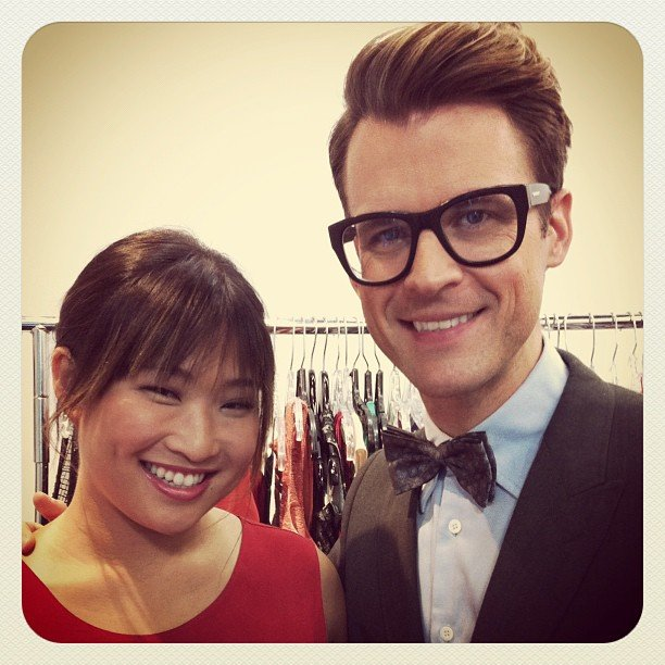 Brad Goreski posed with his new styling subject, Jenna Ushkowitz. Source: Instagram user mrbradgoreski