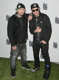 Good Charlotte twins Benji and Joel Madden partied at a Footy Fever event in Melbourne on September 19.