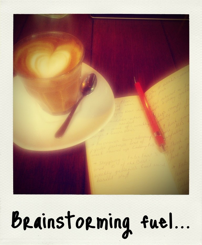 My Saturday morning ritual: a skim latte and brainstorming at my regular neighbourhood cafe Youeni Provides in Darlinghurst.