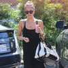 Jessica Alba Carrying Black and White Bag