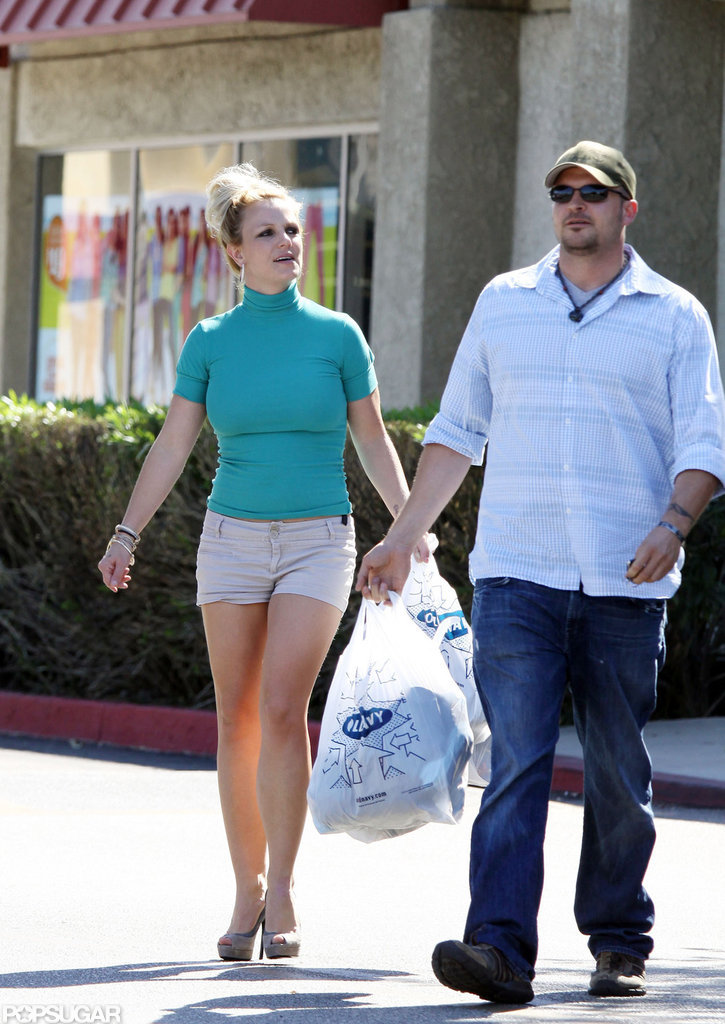 Britney Spears wore a casual ensemble for her outing.