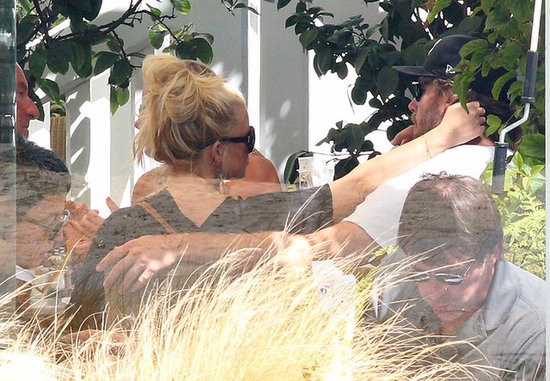 Jessica Simpson showed PDA with fiancé Eric Johnson.