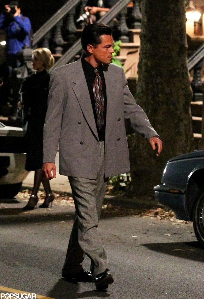 Leonardo DiCaprio walked onto the set in NYC.