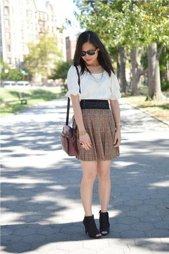 Pleated Plaid
