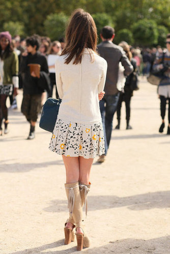 It was all about the heels (even from the back) for this styler.