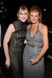 Lily Rabe and Connie Britton stayed close at the Fox afterparty.