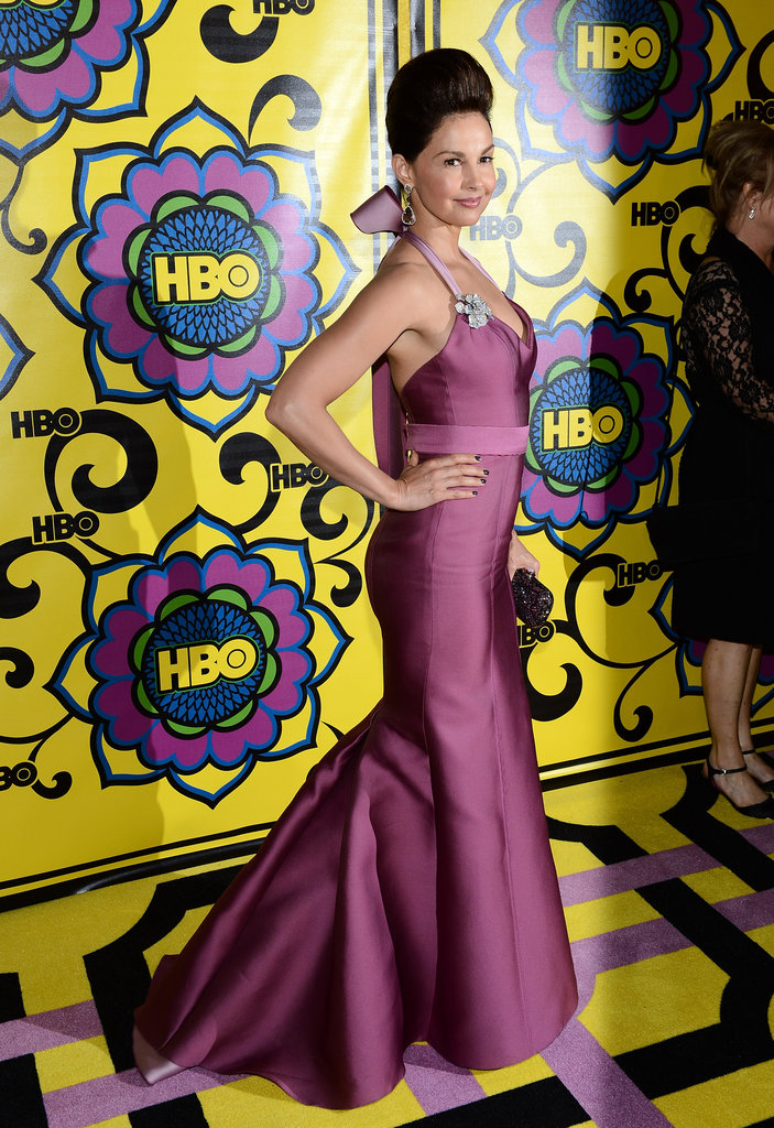 Ashley Judd looked beautiful when she arrived at the HBO reception.