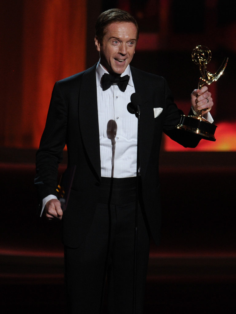 Damian Lewis accepted the Emmy for his role on Homeland.