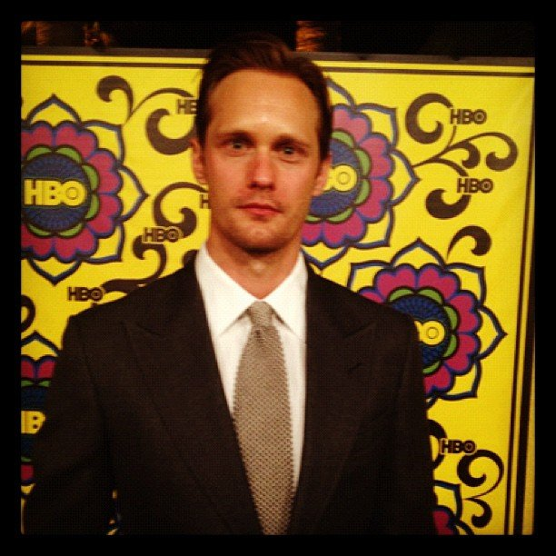 Alexander Skarsgard looked sharp in a suit. Source: Instagram user hbo