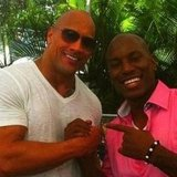 Dwayne Johnson hung out and shook hands with Tyrese Gibson. Source: Instagram user therock