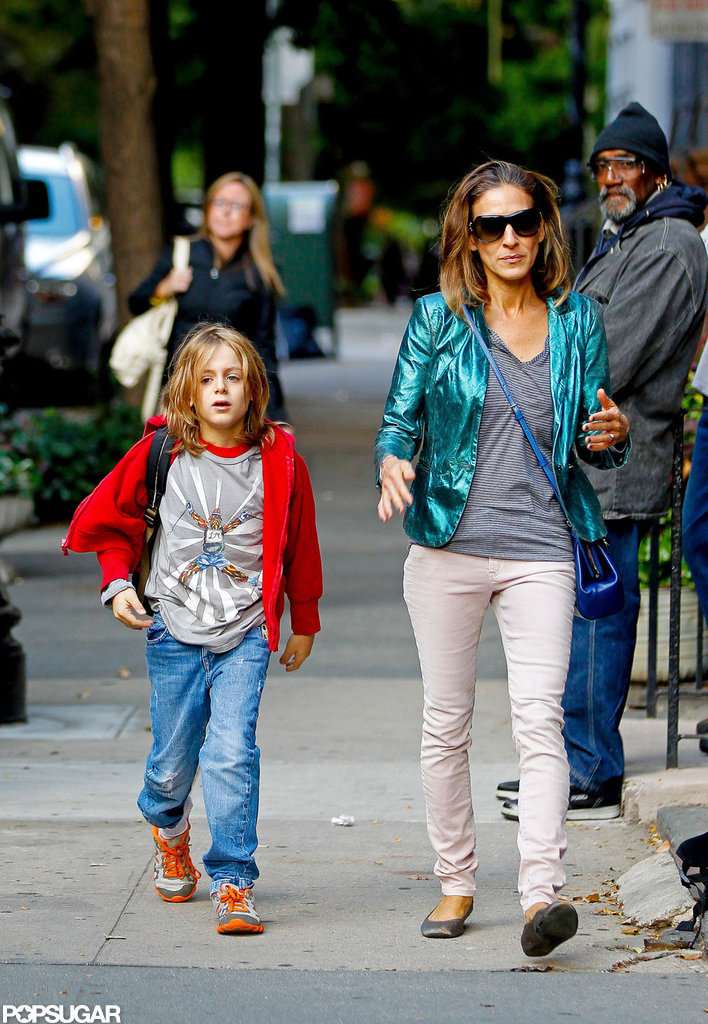 Sarah Jessica Parker walked with her son, James Wilkie Broderick.