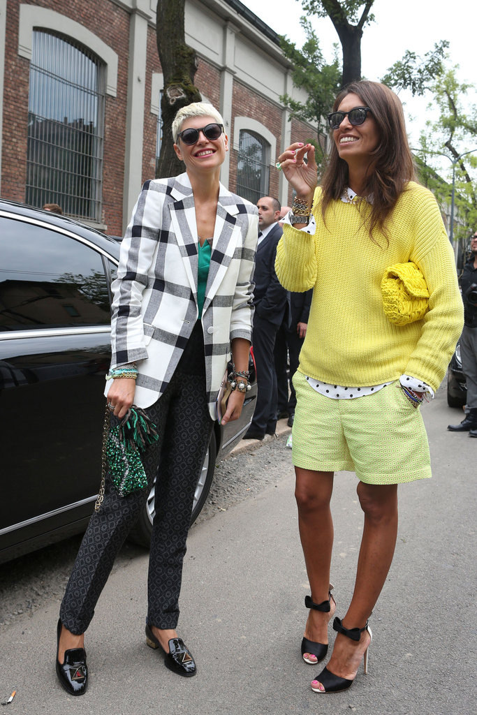 If you weren't convinced of this season's citron hue takeover, one look at this style setter's outfit should make all the difference. Source: IMAXtree