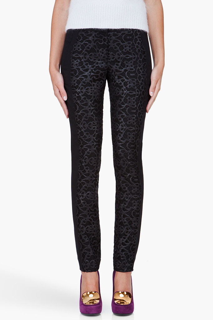 Dress up — without doing much work — by way of these embroidered pants. With a slick, pointy-toe pump, this combo would bode well for the after-hours set. A.L.C. Black Embroidered Emmett Pants ($595)