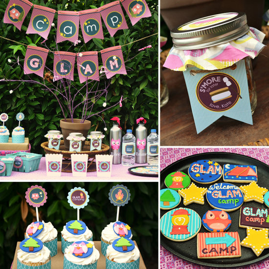 A Sweet-Filled Glam Camping Party