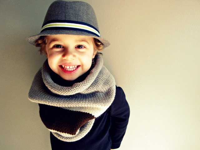 Kid's Cowl Knit Scarf ($36)