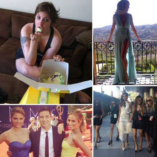 2012 Emmys Red Carpet and Behind the Scenes Celebrity Pictures From Social Media