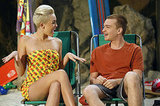Miley Cyrus Rocks a Bikini on Two and a Half Men