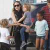 Angelina Jolie and Kids at a Park in France | Pictures