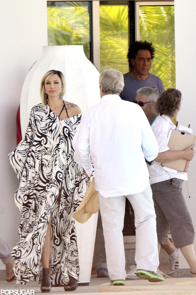 Cameron Diaz filmed scenes with Javier Bardem in Spain.