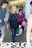 Claire Danes toted shopping bags.