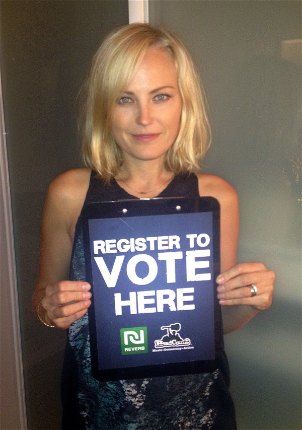 Malin Akerman urged her Twitter followers to vote. Source: Twitter user MalinAkerman