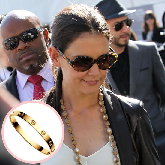 When Suri was born, Tom Cruise went the sentimental route, choosing Cartier's 18-karat gold Love bracelet for new mom Katie Holmes.