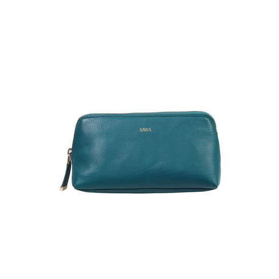 Saba Bobbi Make Up Bag in Teal, $39