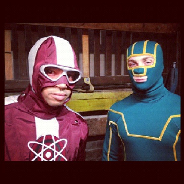 "Donald Faison shared this picture of ""KA and DG"" (street names: Kick-Ass and Doctor Gravity). Source: Instagram user donald_aison"