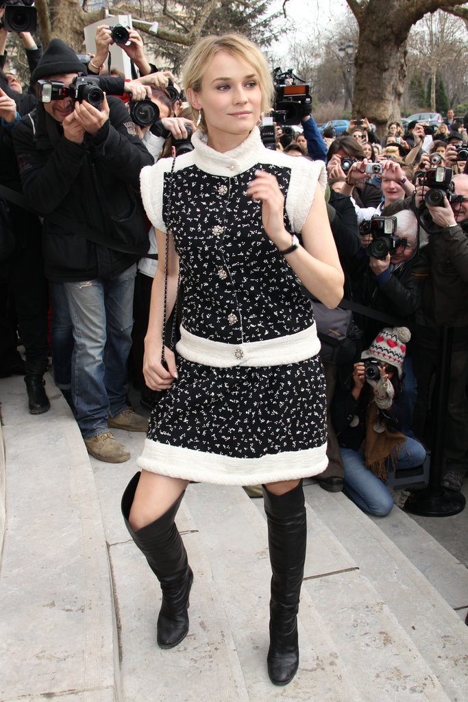 Diane Kruger made it to the Chanel show in January 2012.