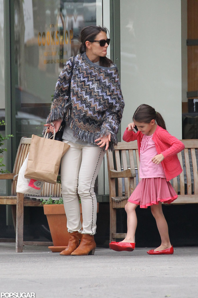 Suri Cruise stepped out with Katie Holmes.