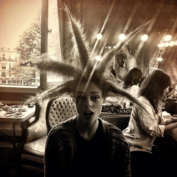 Coco Rocha shared a photo of her hairdo (or hair don't?). Source: Instagram user cocorocha