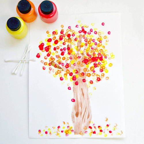 Fall Handprint Tree Craft For Kids