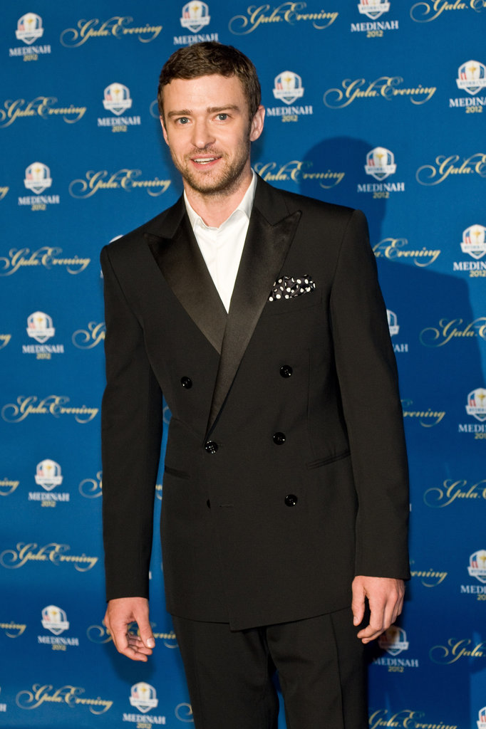 Justin Timberlake sported a black suit on the red carpet.