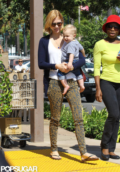 January Jones Shops Whole Foods With Her Birthday Boy Xander