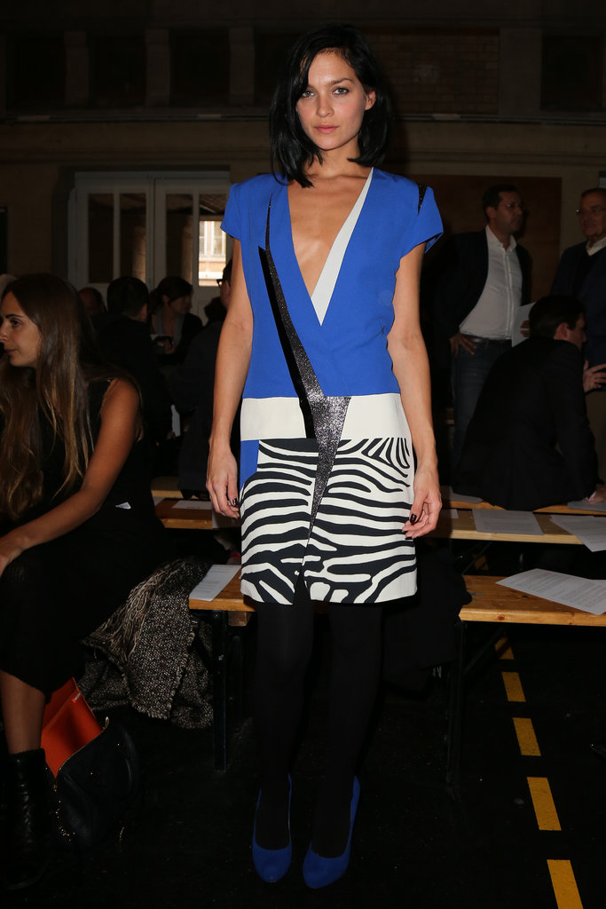 Leigh Lezark made a case for cobalt blue and zebra prints at Felipe Oliveira Baptista.